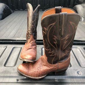 Lucchese 10D ostrich cowboy boots